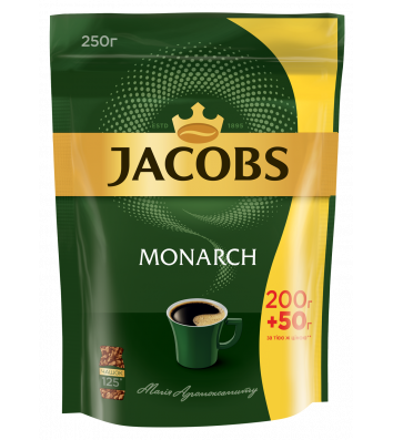 Кофе растворимый Jacobs Monarch 250г, эконом пакет