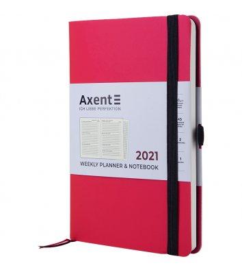 Щотижневик датований 2021 Partner Soft 125*195мм яскраво-рожевий, Axent