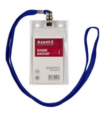 Бейдж  55*87мм вертикальний на шнурку, Axent