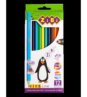 Олівці кольорові 12шт шестигранні Kids Line, Zibi
