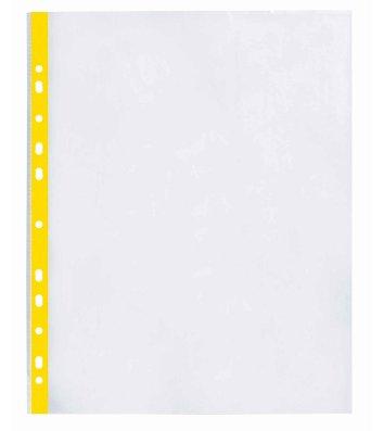 Файли А4+ 40мкм 100шт глянцеві з жовтою стрічкою, Optima