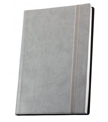 Діловий записник А5 Vivella на гумці сірий, Optima