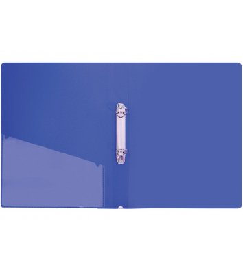 Папка А4 пластикова на 2 кільця 30мм синя, Economix