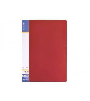 Папка А4 пластикова з затиском Clip В Light червона, Economix