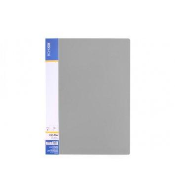 Папка А4 пластикова з затиском Clip В Light сіра, Economix