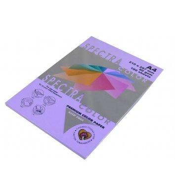 Бумага А4 80г/м2 100л цветная Spectra Color, лиловая