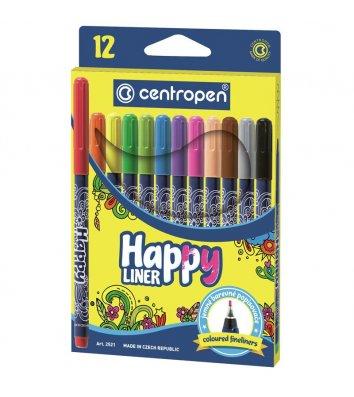 Набор лайнеров Happy 12 цветов 0,3мм, Centropen