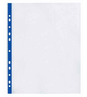 Файли А4+ 40мкм 100шт глянцеві з синьою стрічкою, Optima
