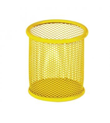 Подставка канцелярская металлическая желтая, Optima