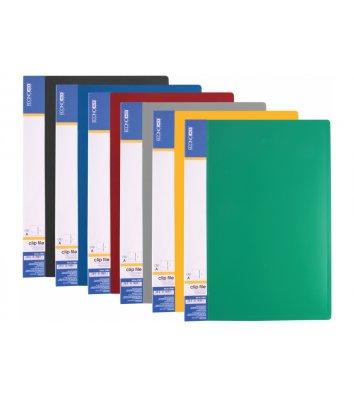 Папка-швидкозшивач А4 пластикова Clip A асорті, Economix