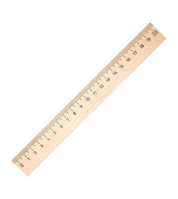 Лінійка 20см дерев'яна