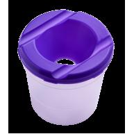 Стакан-непроливайка пластиковий одинарний фіолетовий, Zibi
