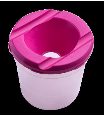 Стакан-непроливайка пластиковий одинарний рожевий, Zibi