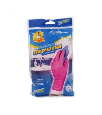 Рукавички гумові універсальні S міцні рожеві, Фрекен Бок