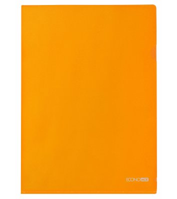 Папка-уголок А4 пластиковая оранжевая, Economix