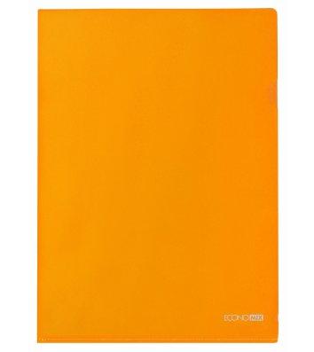 Папка-куточок А4 пластикова помаранчева, Economix