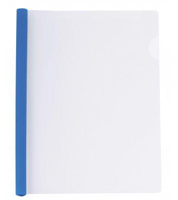 Папка А4 пластикова з планкою-притиском 2-65арк синя, Economix