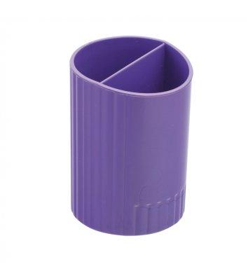 Подставка канцелярская пластиковая фиолетовая, Zibi