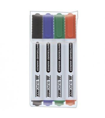Набор 4 маркеров для досок, Buromax