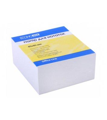 Бумага для заметок 80*80мм 500л, белая непроклеенная, Economix