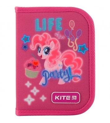 Пенал твердый 1 отделение 2 отворота на молнии Little Pony, Kite