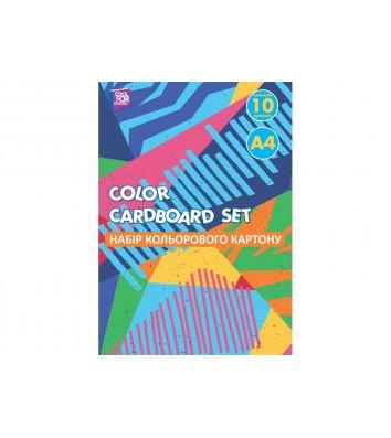Картон кольоровий односторонній А4 10арк, Cool for School
