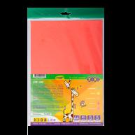 Папір кольоровий крейдований неоновий А4 10арк 5 кольорів, Zibi