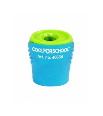 """Точилка пластиковая 1 лезвие с контейнером """"Neon"""" ассорти, Cool for School"""