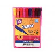 """Фломастери 18 кольорів """"Sappy"""", Cool for School"""