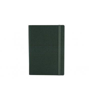 Щоденник напівдатований A5 Cross на гумці зелений, Optima