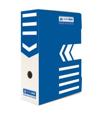 Бокс архивный 80мм синий, Buromax