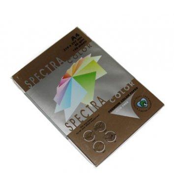 Бумага А4 80г/м2 100л цветная Spectra Color, темно-коричневая