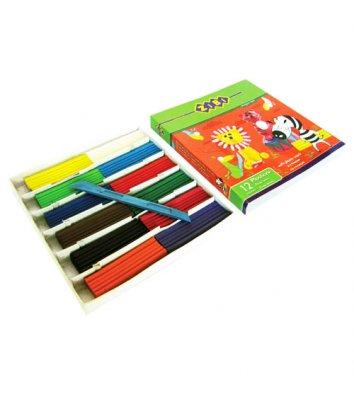 Пластилін 12 кольорів 240г, Zibi