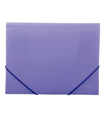 Папка А4 пластикова на гумках фіолетова, Economix