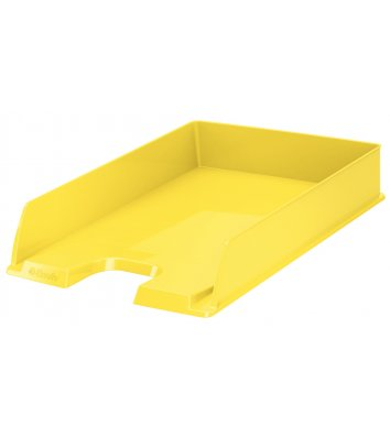Лоток горизонтальний пластиковий жовтий Vivida, Esselte