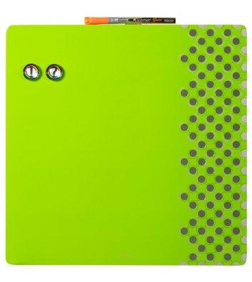 Доска магнитно-маркерная 35,5*35,5см, с комбинированной поверхностью зеленая Quartet, Nobo