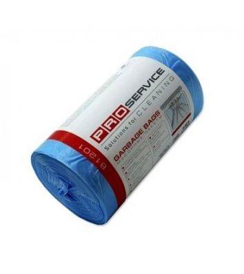 Пакет для мусора 60л/40шт 60*80см синий, PRO Service