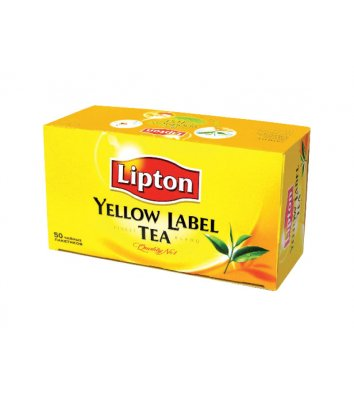 """Чай чорний Lipton """"Yellow Lable"""" в пакетиках 50шт"""
