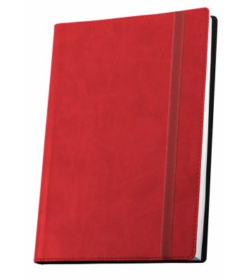 Деловая записная книжка  А5 Vivella на резинке красная, Optima