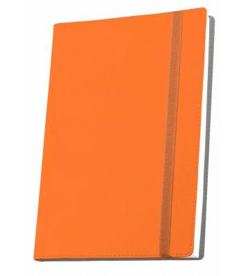 Деловая записная книжка  А5 Vivella на резинке оранжевая, Optima
