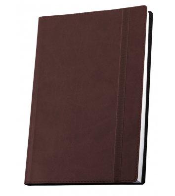 Деловая записная книжка  А5 Vivella на резинке коричневая, Optima