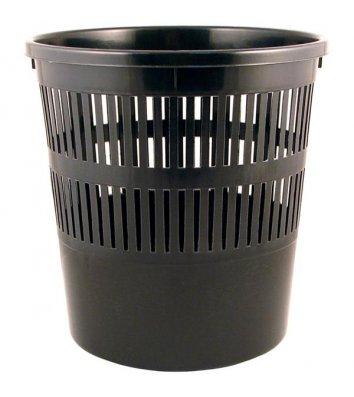 Корзина для сміття пластикова чорна 8л, Delta
