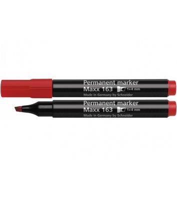 Маркер перманентний Maxx 163, колір чорнил червоний 1-4мм, Schneider