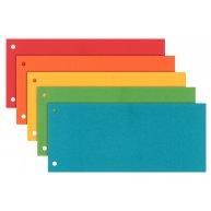 Розділювачі аркушів 100шт картонні 105*230мм кольорові асорті, Esselte
