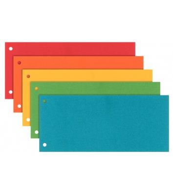 Розділювачі аркушів картонні 100шт кольорові асорті, Esselte