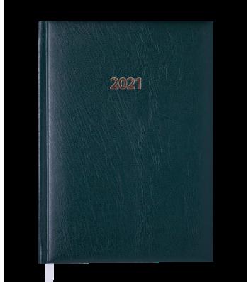 Ежедневник датированный A5 2021 Expert зеленый, Buromax