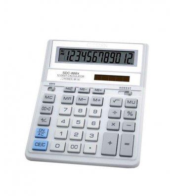 Калькулятор 12 розрядів 203,2*158*31мм біло-сірий, Citizen