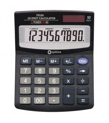 Калькулятор 10 розрядів 125*100*27мм, Optima