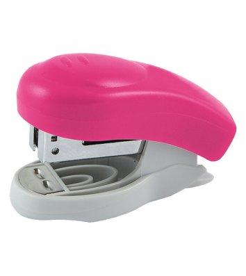 Степлер 10л скобы 24/6 пластиковый корпус розовый Welle, Axent
