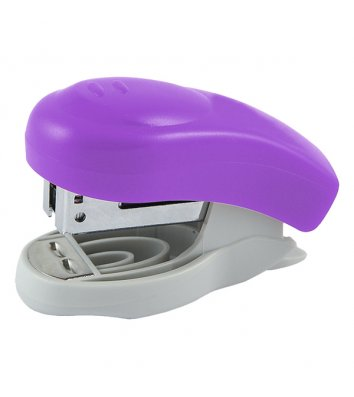 Степлер 10л скобы 24/6 пластиковый корпус фиолетовый Welle, Axent